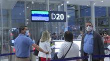 Testes nos aeroportos