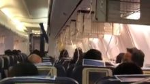 Inside visuals of Jet Airways which returned to Mumbai after passengers bleed mid air