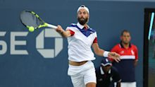 Paire saves match point to see off Goffin
