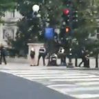 Officers Respond to Shooting Outside the White House