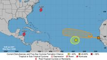 Hurricane Nana could form tonight. Hurricane center expects two tropical waves to merge