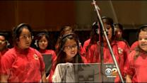 Local Students Pay Tribute To The Beatles During Recording Session At Capitol Records