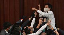 Hong Kong opposition politicians arrested for legislature protest
