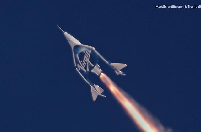Watch Virgin Galactic Unity's second rocket-powered flight