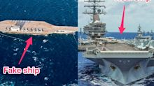 The 11-carrier US Navy is mocking Iran for being 'experts' at making a dummy aircraft carrier to shoot at