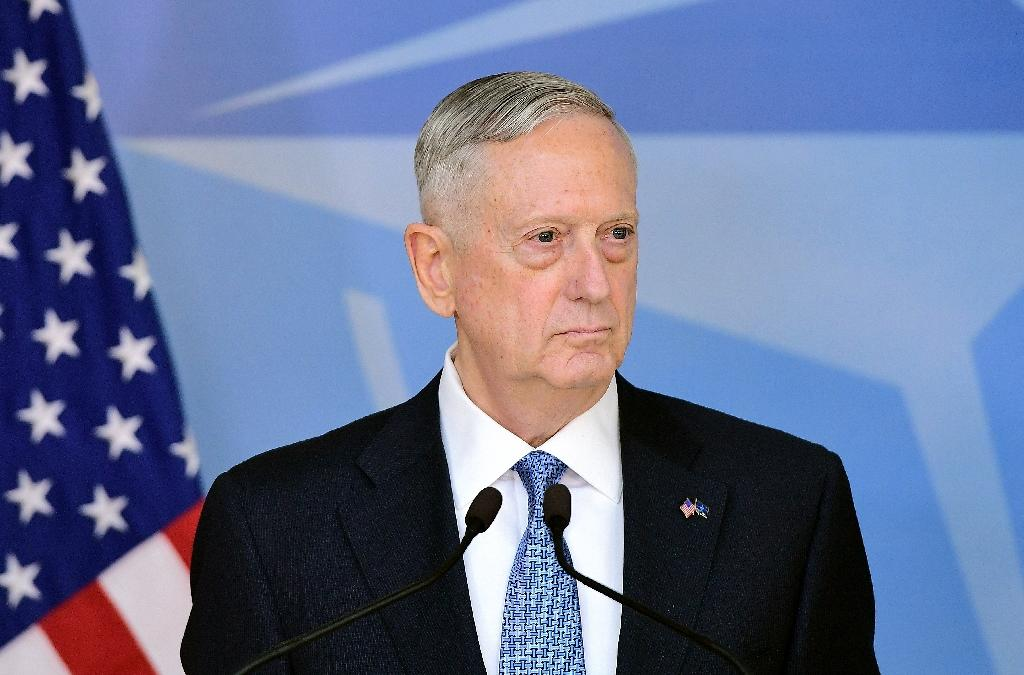"""""""The effects of a changing climate -- such as increased maritime access to the Arctic, rising sea levels, desertification, among others -- impact our security situation,"""" said US Defence Minister James Mattis, according to a ProPublica report (AFP Photo/EMMANUEL DUNAND)"""