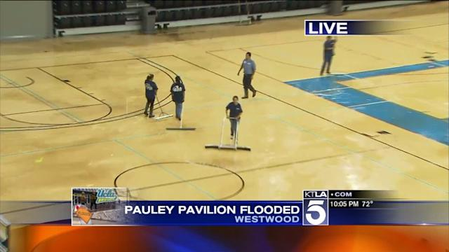 Flooding Leaves UCLA`s Legendary Pauly Pavillion Under Several Inches of Standing Water