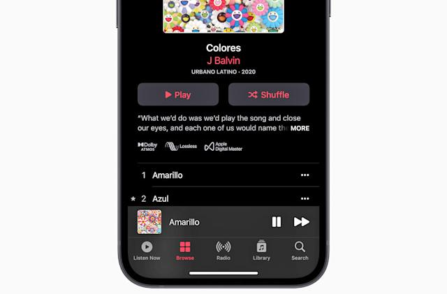 Apple Music Lossless is now available on supported devices