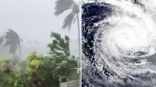 Two killed as powerful cyclone hits island nation flattening entire villages