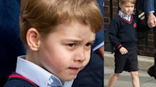 The 'very English' reason why Prince George wore shorts to meet his baby brother