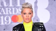 Pink closes Brit Awards with defiant performance