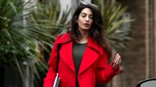 Pregnant Amal Clooney Stuns in Red: See the Glamorous Pic!