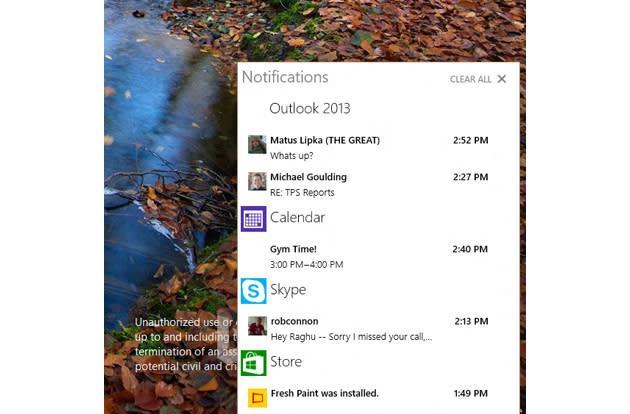 Windows 10 brings Windows Phone's notification center to the desktop