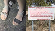 Arizona sheriff defends 'sandal shaming' woman who wore inadequate footwear for 10-mile hike