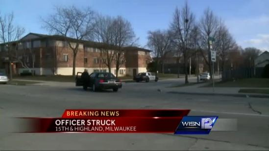 Milwaukee police officer struck by vehicle