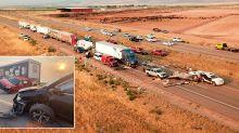 At least seven dead after severe sandstorm causes 20-car pileup