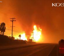 Woolsey Fire whips up 'terrifying' firenado along Pacific Coast Highway in Malibu
