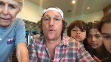 Matthew McConaughey hosts bingo night for isolated elderly residents in Texas