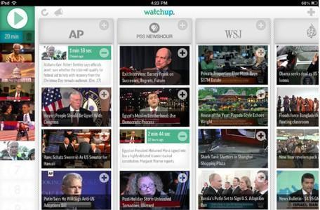 Daily iPad App: Watchup is your personal video news station