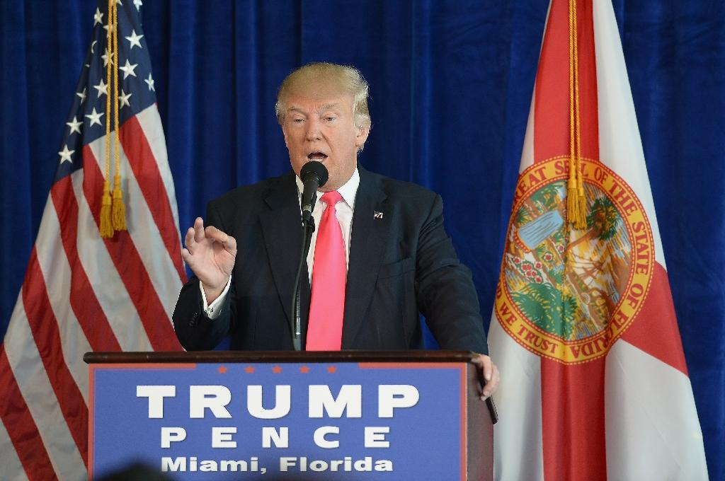 Republican presidential candidate Donald Trump holds a press conference on July 27, 2016 in Doral, Florida