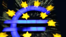 Eurozone markets slip on powerful euro rally