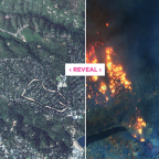Before and after photos show the devastation of the California wildfires