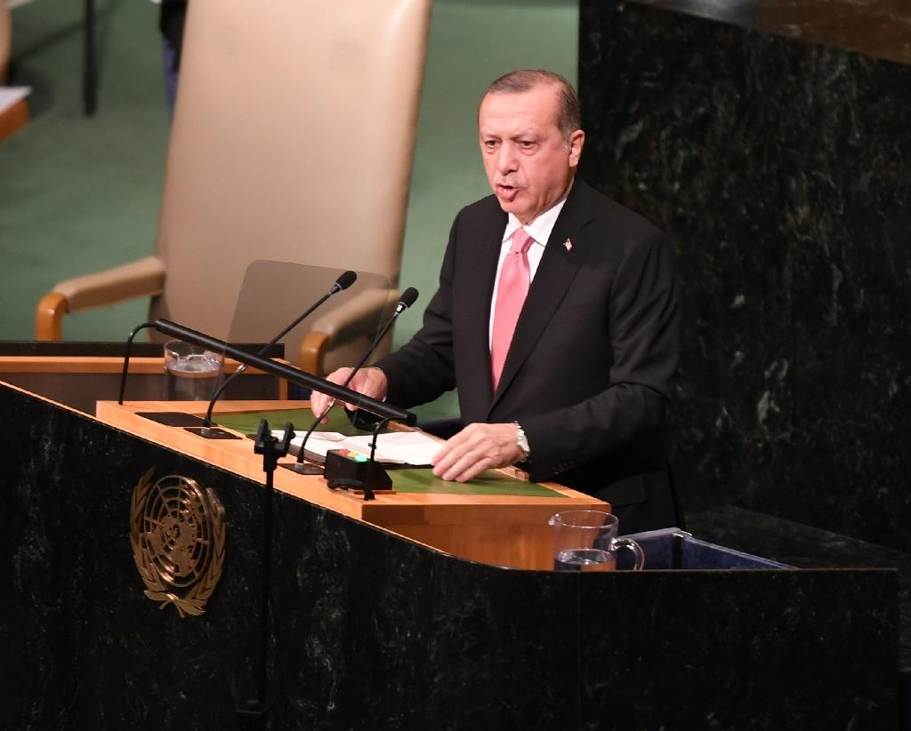 """Turkish President Recep Tayyip Erdogan said Turkey was ready to take """"all the steps"""" needed """"on political, economic, trade and security fronts"""" and appeared not to rule out military action"""