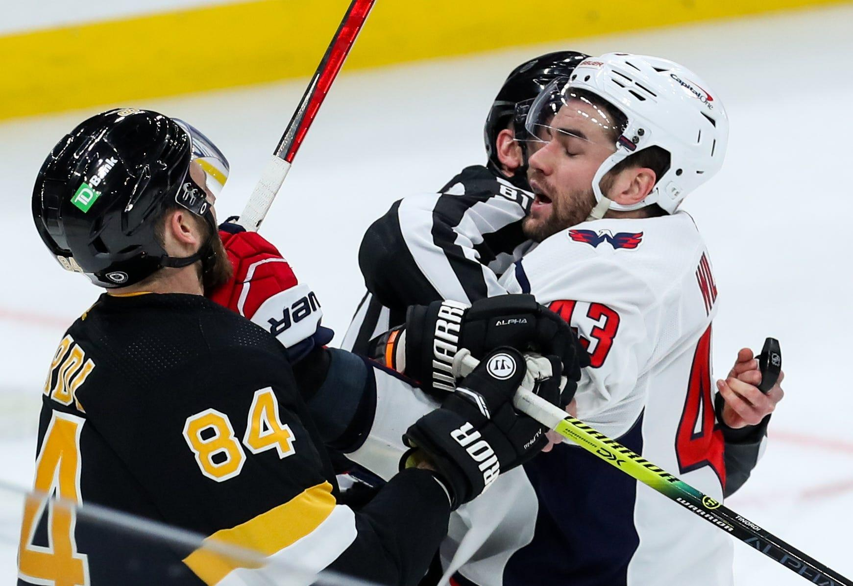 Washington Capitals Tom Wilson Gets Seven Game Suspension For Boarding Boston Bruins Brandon Carlo