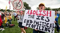 Tea Party supporters rally for audit of the IRS