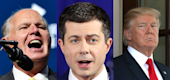 Rush Limbaugh, Pete Buttigieg and President Trump. (Yahoo Entertainment)
