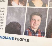 Good service dog makes it into school yearbook right next to his human
