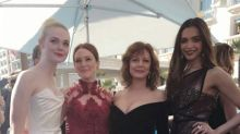 Cannes 2017: Deepika Padukone poses with Julianne Moore, Susan Sarandon and Elle Fanning