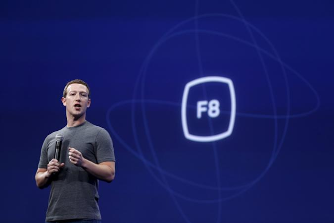 Facebook CEO Mark Zuckerberg speaks during his keynote address at Facebook F8 in San Francisco, California March 25, 2015. REUTERS/Robert Galbraith