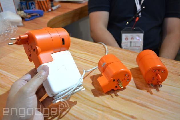 Here's an all-in-one travel adapter for your MacBook charger