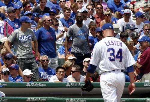 Cubs starter Jon Lester didn't even make it through the first inning Sunday. (AP Photo)