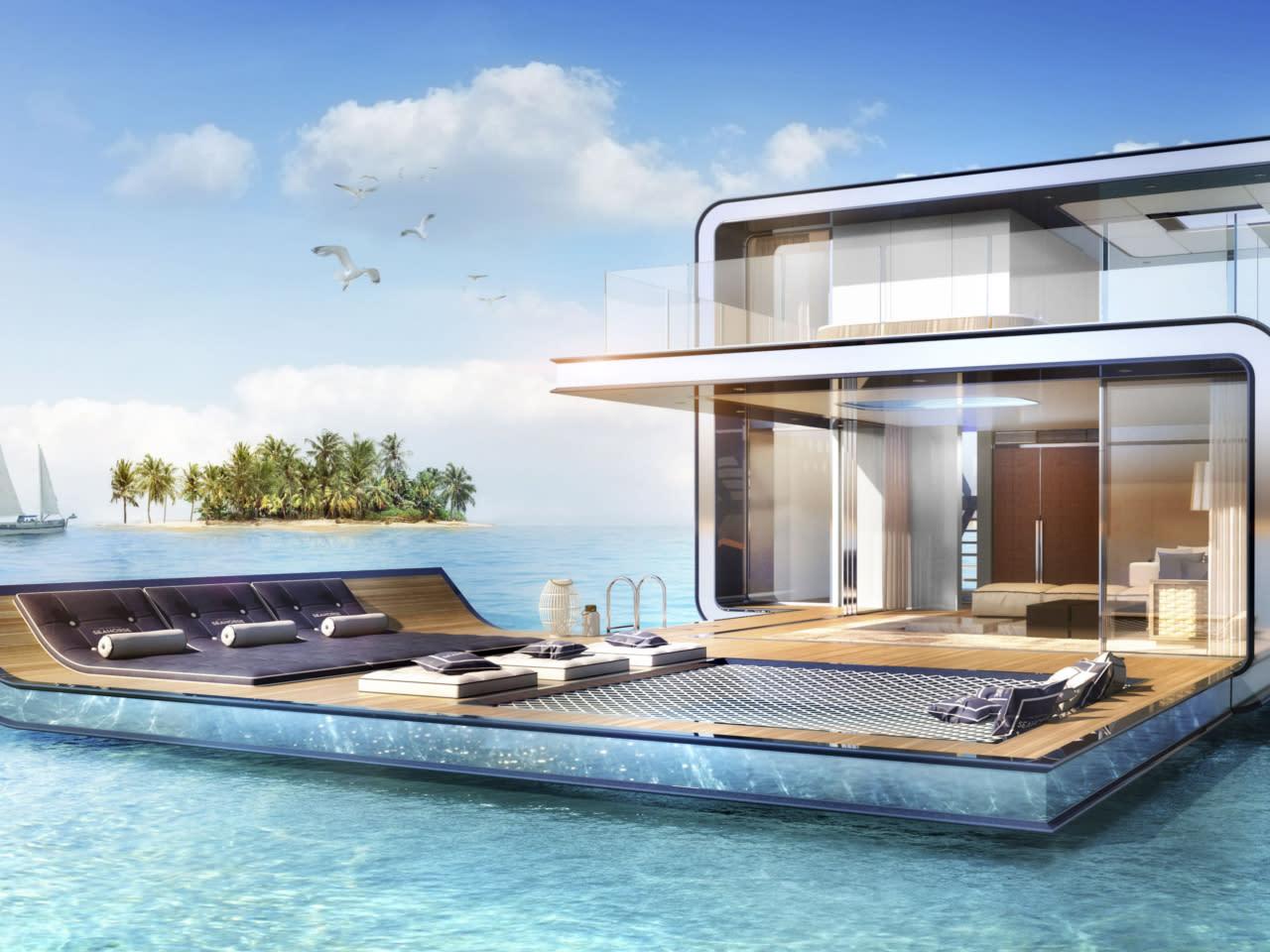 wohnen bei den fischen luxus unterwasserhaus mitten im. Black Bedroom Furniture Sets. Home Design Ideas