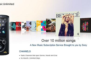 Sony's Music Unlimited cloud service comes to limited non-cloud Walkmans