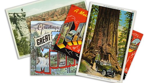 Vintage postcards of U.S. National Parks