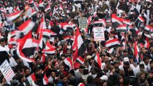 'No, No America': Thousands of Iraqis rally against U.S. military presence