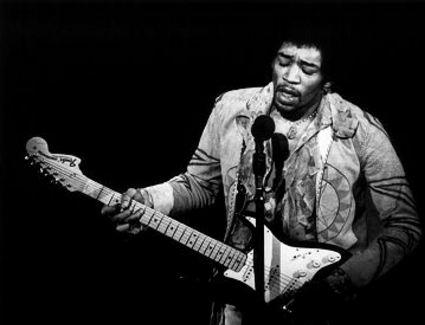 Jimi Hendrix songs, character included in Guitar Hero: World Tour