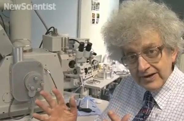 Periodic table blasted onto a single human hair using ions, human reportedly wants his hair back