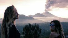 La erupción del volcán de Bali inspira a las 'influencers'