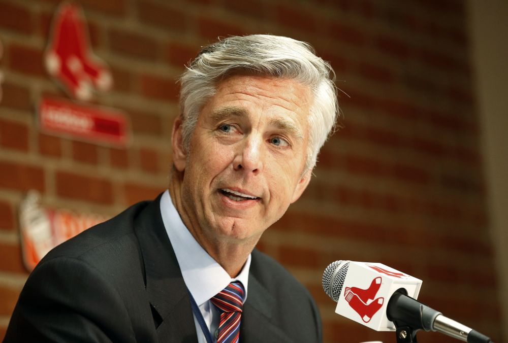 Dave Dombrowski, Boston Red Sox president of baseball operations, at a news conference Tuesday. (AP)