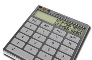 Off the screen and onto your desk: Mac OS X Calculator app done in atoms, not bits