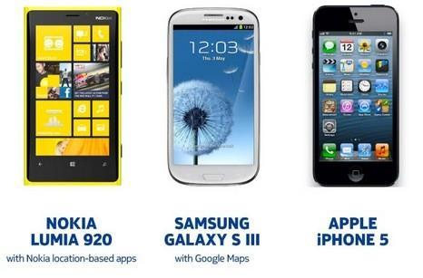 Nokia stacks up its maps next to Apple's and Google's, politely suggests it comes out on top (update: more detail)