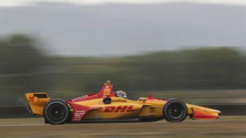 Hunter-Reay bate Rosenqvist por 0s02 e lidera TL2 em Laguna Seca. Newgarden é 6º