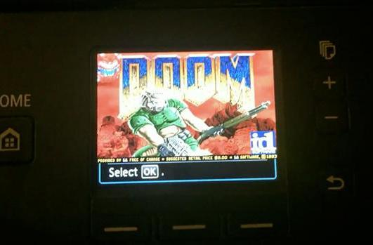 There's a Canon printer that can run 'Doom' (really)