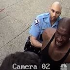Surveillance video of the moments leading up to George Floyd being pinned under a policeman's knee shows that he didn't resist arrest