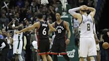 The Raptors survived an unbelievable fourth-quarter collapse to eliminate the Bucks