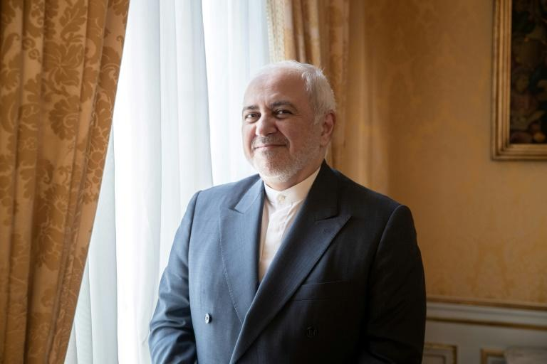 Iranian Foreign Minister Mohammad Javad Zarif made a surprise visit to the G7 (AFP Photo/Geoffroy VAN DER HASSELT)